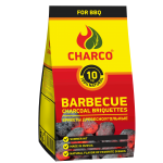 BARBECUE CHARCOAL BRIQUETTES 10 KG CHARCO